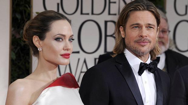 Angelia Jolie e Brad Pitt, no tapete vermelho do Globo de Ouro