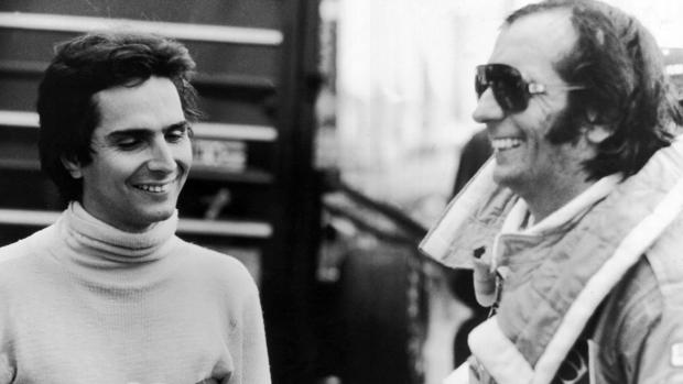Nélson Piquet com Emerson Fittipaldi, em 1978