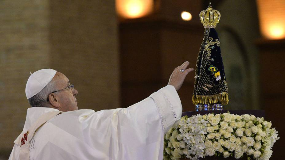 Papa Francisco durante Jornada Mundial da Juventude em Aparecida