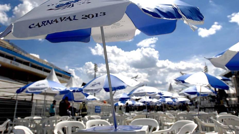 Com segurança reforçada, apuração do carnaval de SP é realizada no sambódromo do Anhembi, na tarde desta terça-feira (12)