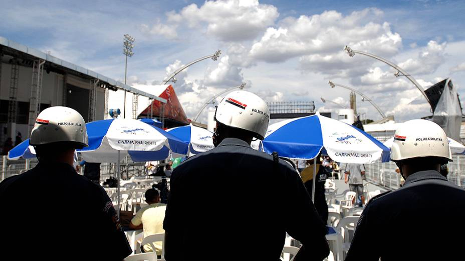 Apuração do grupo especial do Carnaval de São Paulo, realizado no sambódromo do Anhembi, em São Paulo, SP, na tarde desta terça-feira (12)