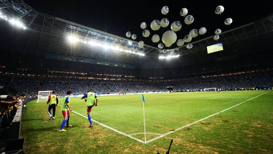 Partida entre Hamburgo e Grêmio na inauguração da Arena em Porto Alegre