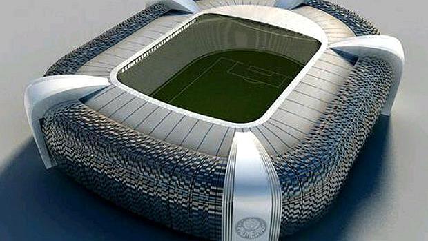 Projeto da Arena Palestra Itália, estádio do Palmeiras construído pela WTorre, em São Paulo