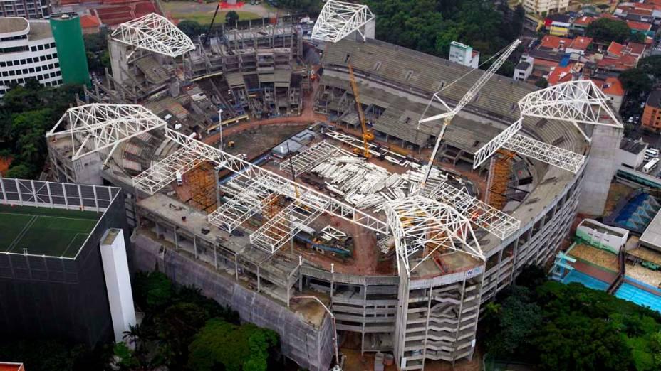 Arena Palestra Itália, o novo estádio do Palmeiras, em maio de 2013