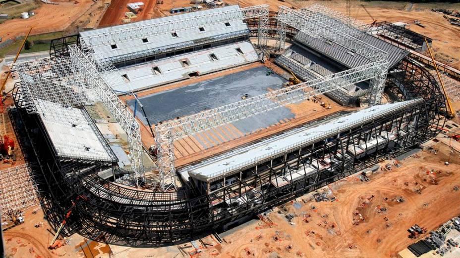 As obras da Arena Pantanal, em Cuiabá, em setembro de 2013