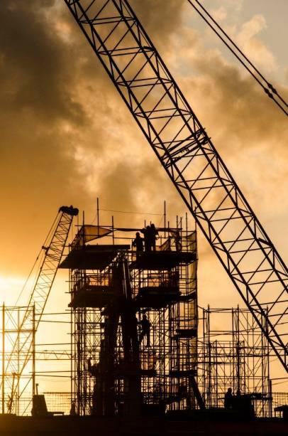 <br><br>  Arena Pernambuco: as obras em setembro de 2012