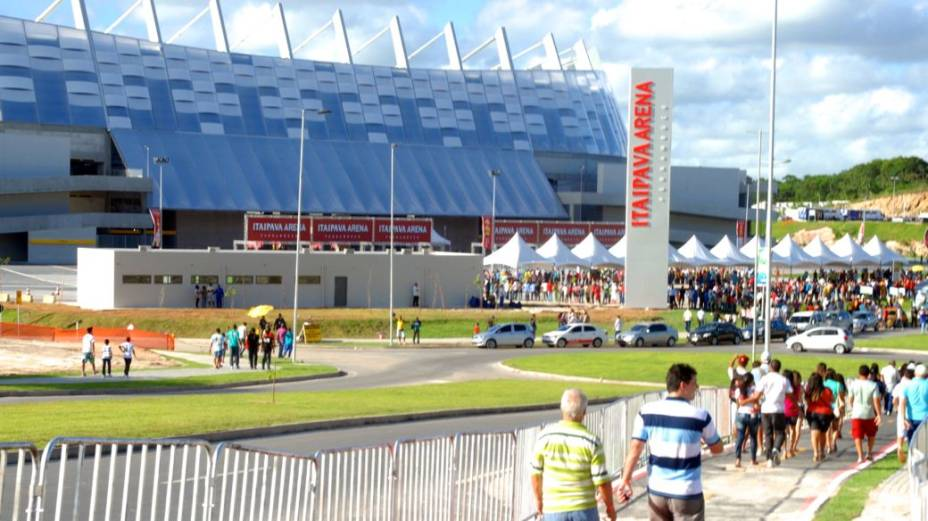 A Arena Pernambuco, em São Lourenço da Mata