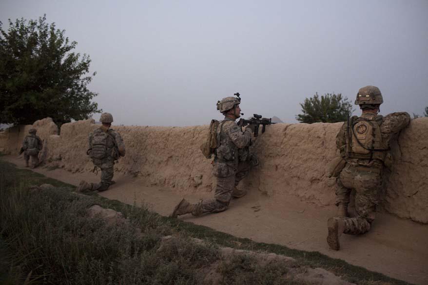 Soldados americanos em serviço na região de Arghandab