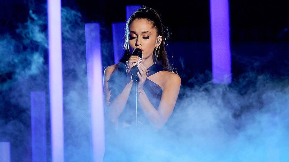Ariana Grande 57ª edição do Grammy, premiação que elege os melhores da música internacional, que acontece neste domingo (08)
