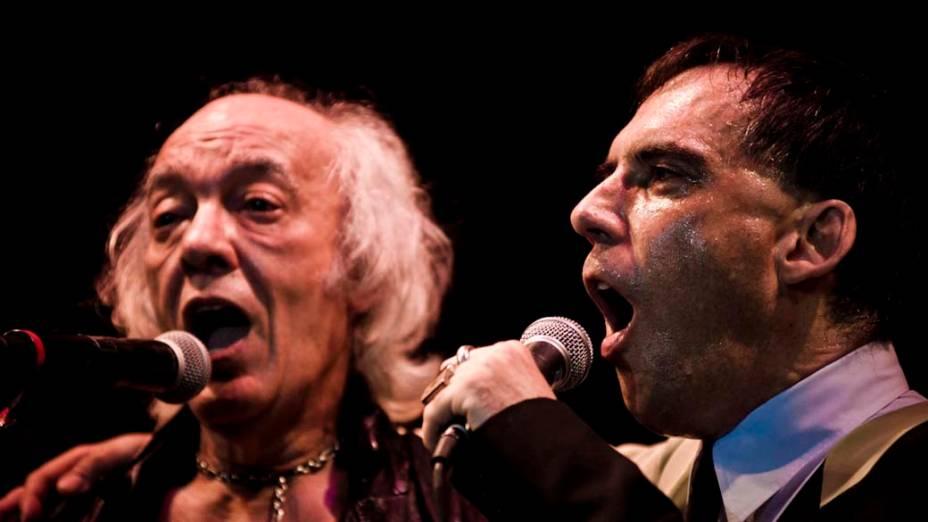 Show de Erasmo Carlos e Arnaldo Antunes no palco Sunset, no sexto dia do Rock in Rio, em 01/10/2011