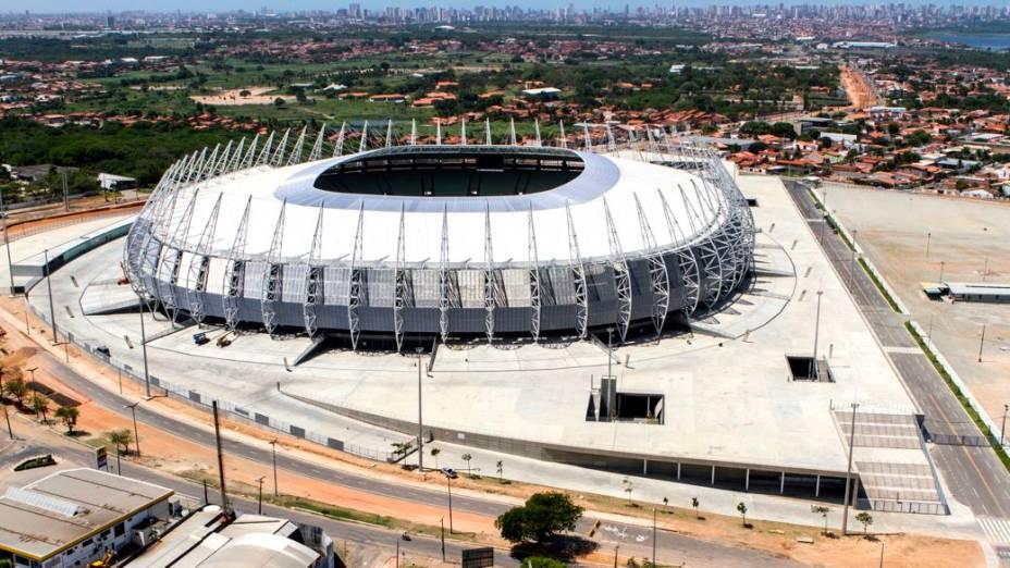 Os arredores da Arena Castelão, em Fortaleza, em março de 2013