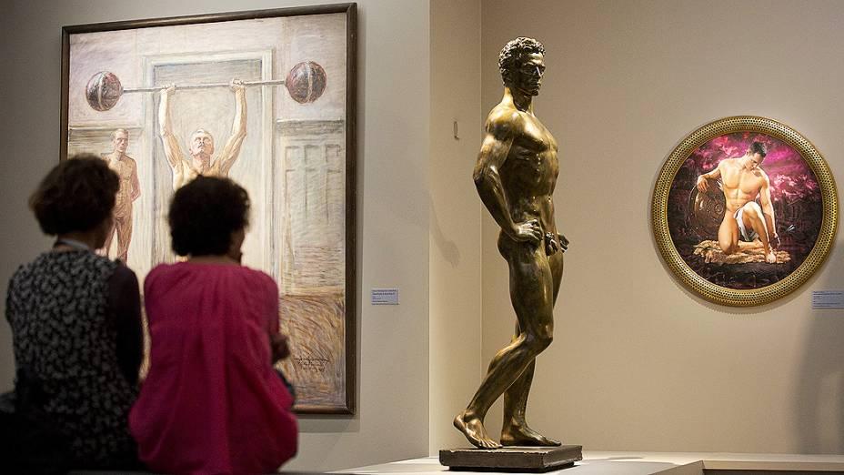 Escultura La Vie Active, do artista alemão Arno Breker, em exposição no Museu DOrsay, em Paris