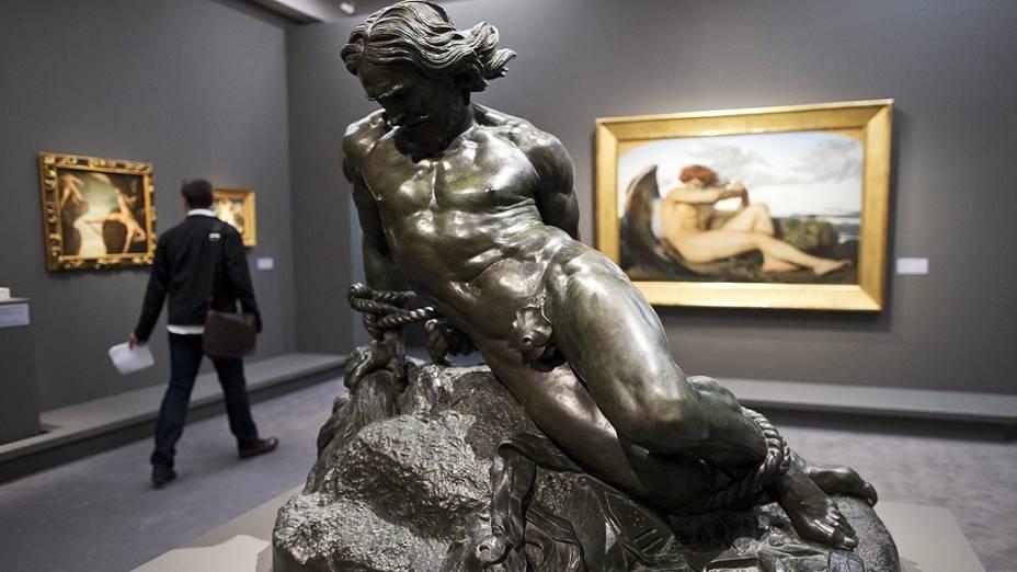 Escultura Roland Furieux, do artista francês Jehan Dusegneuque, em exposição no Museu DOrsay, em Paris