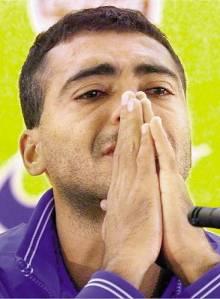 Romário foi cortando da Copa Mundo de 1998 por causa de uma lesão muscular na coxa. Émerson foi chamado para o seu lugar.