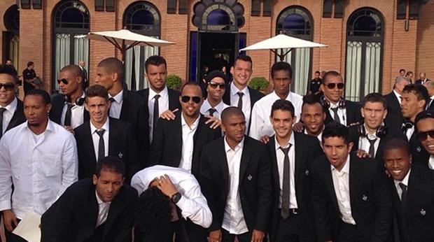 Time do Atlético-MG no hotel em Marrocos