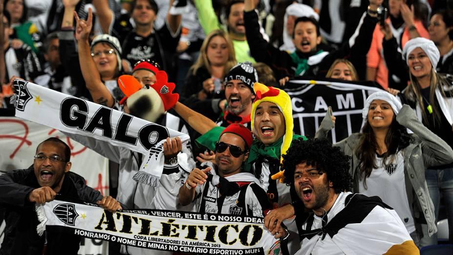Torcida do Atlético MG durante a partida entre Atlético-MG e Raja Casablanca