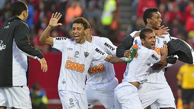 Jogadores do Atlético-MG comemoram gol de empate contra o Tijuana