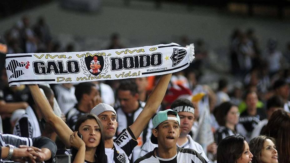 Atlético MG comemora conquista da Libertadores 2013, no Estádio do Mineirão, em Belo Horizonte, nesta quarta-feira (24)