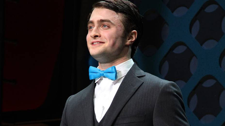 "Ator Daniel Radcliffe na peça da Broadway ""How To Succeed In Business Without Really Trying"""