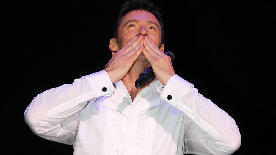 "Ator Hugh Jackman na peça da Broadway ""Hugh Jackman: Back On Broadway"""