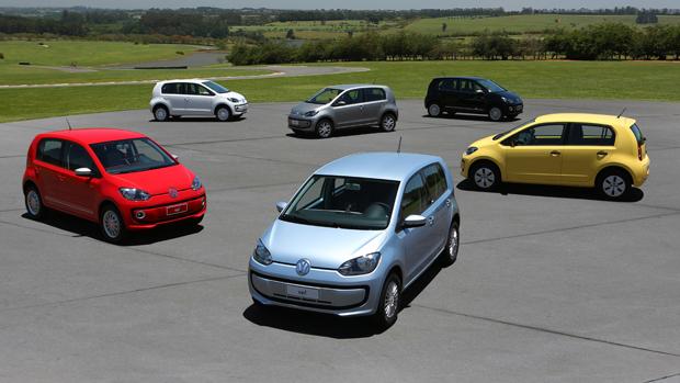 As versões no novo compacto Volkswagen up!