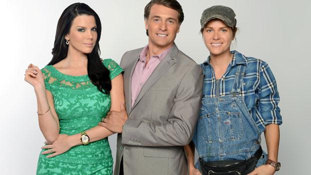 Maritza Rodriguez, Juan Soler e Sonya Smith vivem Tereza Cristina, Reinaldo (Renê na versão original) e Griselda na versão hispânica de Fina Estampa, da Telemundo