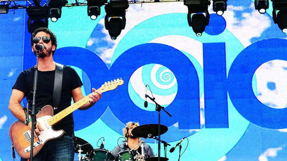 Show da banda Baia no último dia do Lollapalooza, em São Paulo