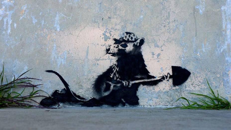 Trabalho do artista inglês Bansky
