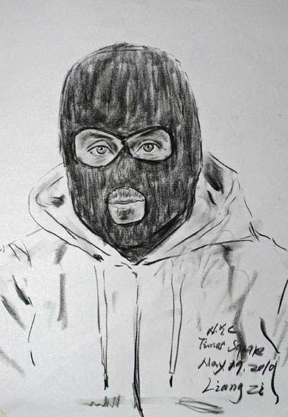 Auto-retrato do artista inglês Bansky