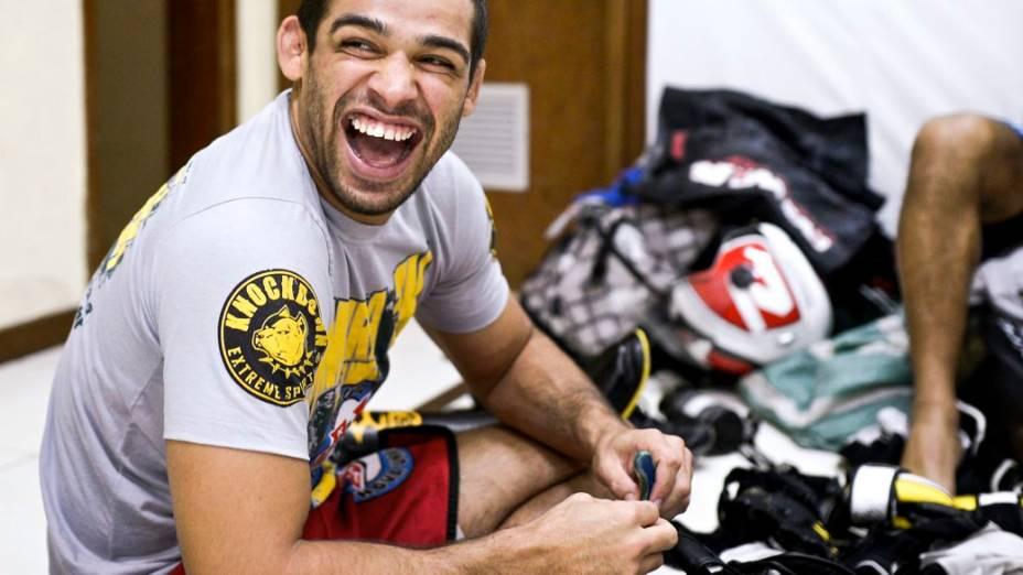 Renan Barão na preparação para o UFC 173, em que ele encara TJ Dillashaw, em maio, em Las Vegas