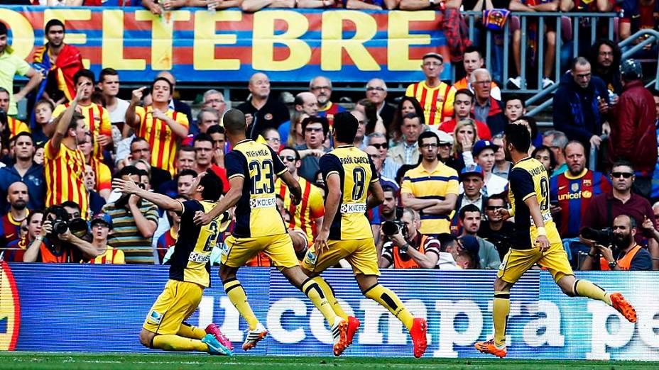 O Atlético jogava por um empate e terminou a Liga com três pontos e vantagem sobre Barça e Real
