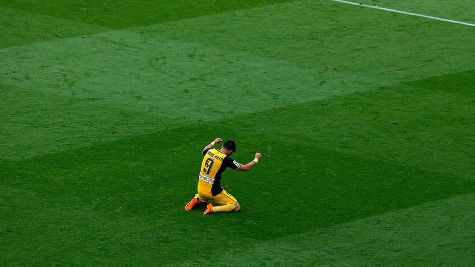 Campeão com o Barça na temporada passada, David Villa conquistou o título novamente pelo novo clube