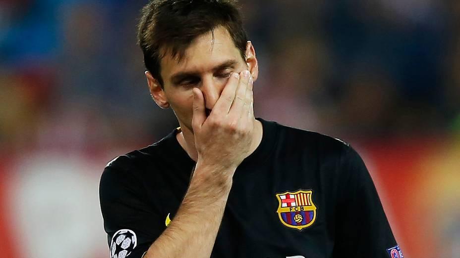 Messi: derrota e eliminação da Liga dos Campeões