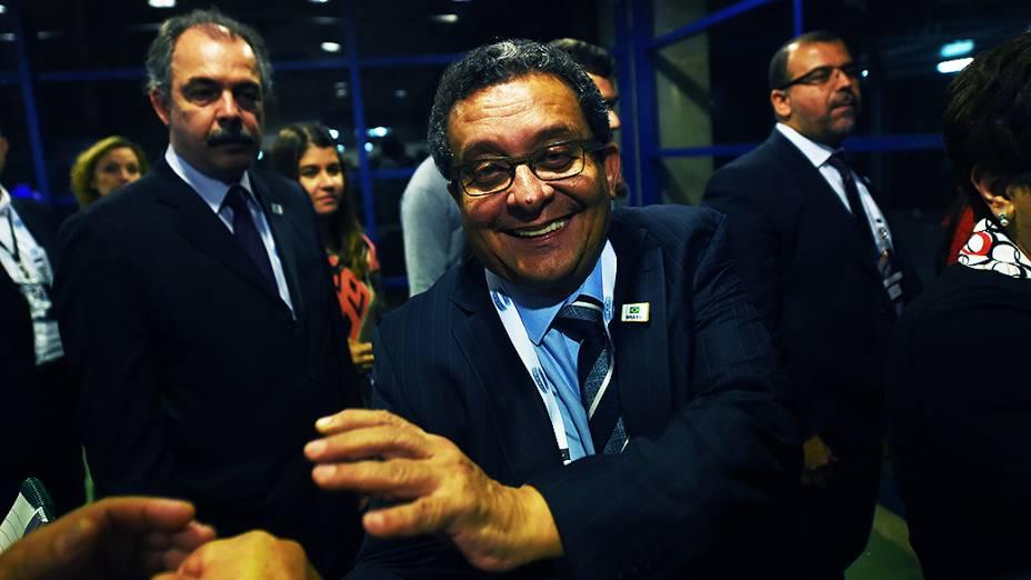 O marqueteiro da candidata à Presidência da República, Dilma Rousseff (PT) João Santana, antes do debate promovido pela Globo, no Rio