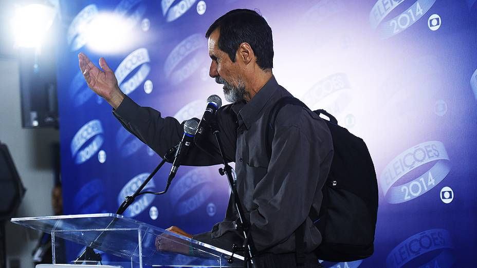 O candidato à Presidência da República, Eduardo Jorge (PV), depois do debate promovido pela Globo, no Rio
