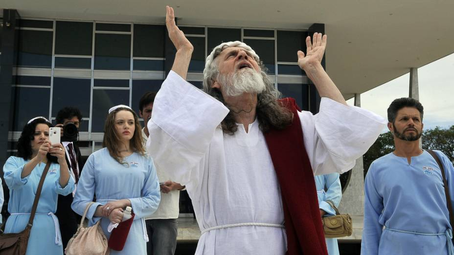 Inri Cristo vai ao STF para acompanhar o julgamento do processo do mensalão