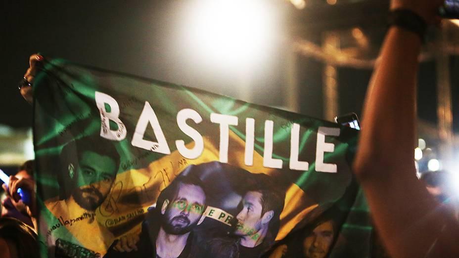 Apresentação da banda Bastille no Lollapalooza 2015, em São Paulo