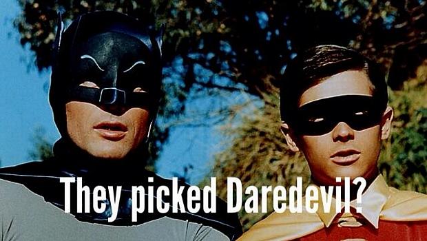 """""""Eles escolheram o Demolidor?"""", perguntam o Batman e Robin da clássica série de TV"""