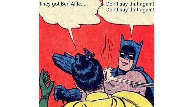 """""""Não diga de novo!, Não diga de novo!"""", reage o Batman dos quadrinhos ao anúncio de que Ben Affleck vai interepretá-lo"""