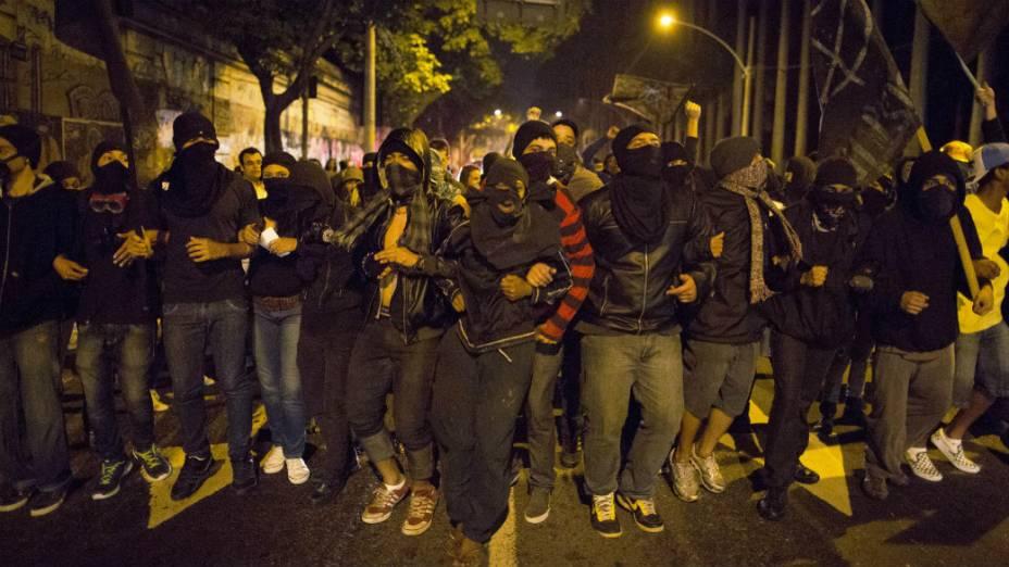 O grupo Black Bloc no Rio de Janeiro