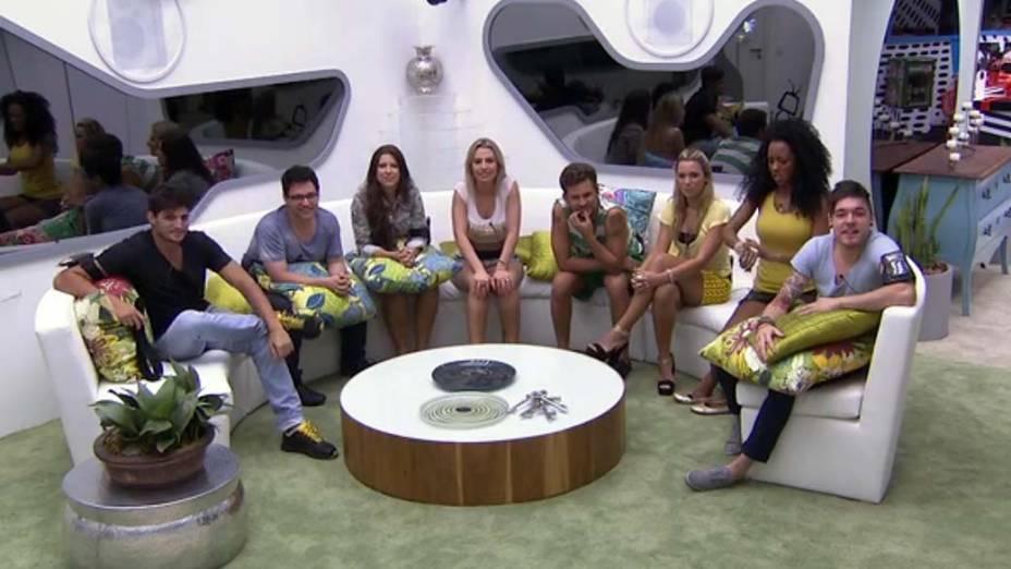 Participantes na casa do BBB 13
