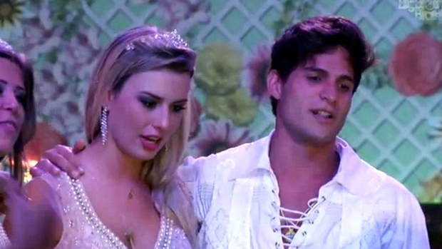 Fernanda e André acompanham show do cantor Daniel no BBB 13