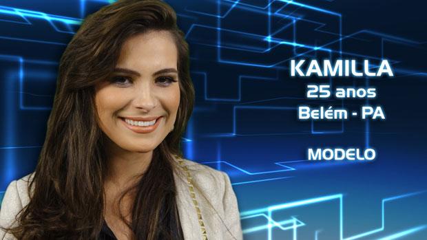 A modelo Kamilla está na casa de vidro do <em>BBB13</em>