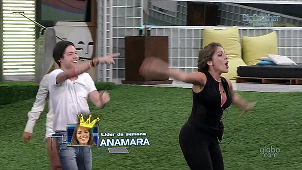 Anamara vence a prova do líder desta quinta-feira (14), no BBB 13