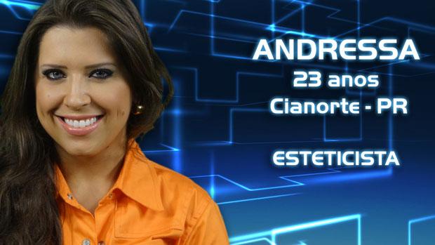 A paranaense Andressa, de 23 anos
