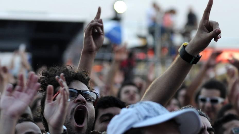 Público durante o show de Bebel Gilberto e Sandra de Sá no palco Sunset, no primeiro dia do Rock in Rio, em 23/09/2011