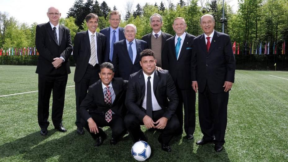 A reunião na Fifa: os brasileiros na Fifa