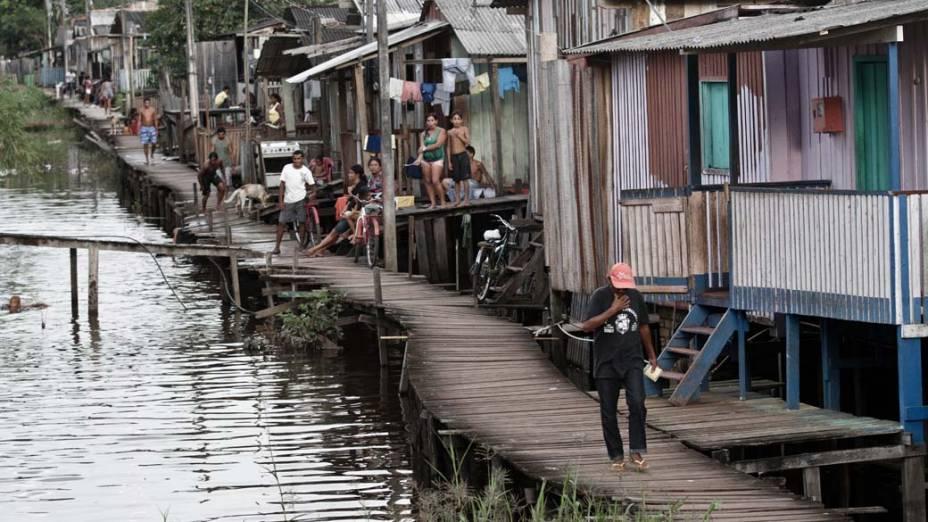 Palafitas como as do bairro Boa Esperança, em Altamira, são a moradia de 13.000 pessoas. Locais vão virar áreas de lazer