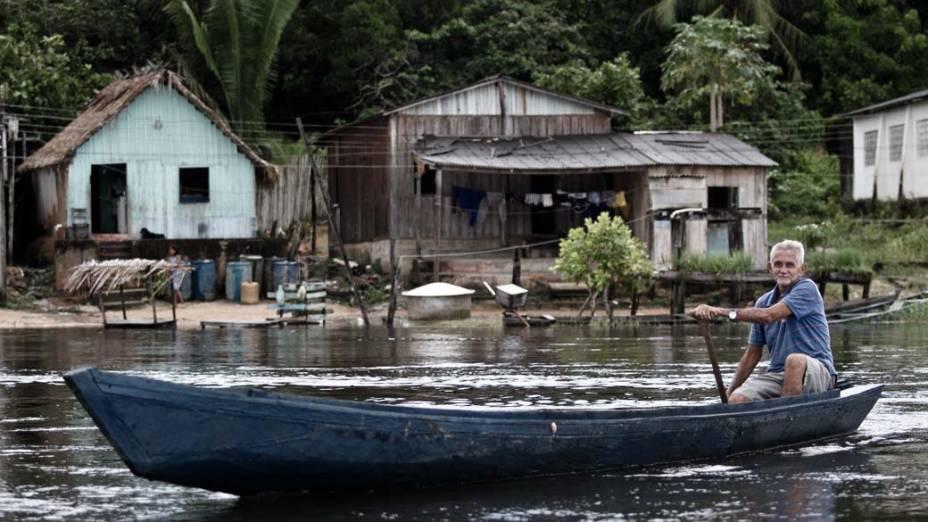 """João Lisboa Sobrinho, um dos moradores mais antigos da Ilha da Fazenda: """"Falam que Belo Monte é bom, que vai melhorar, mas aqui ninguém viu nada"""""""