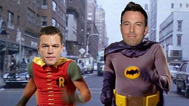Escolha de Ben Affleck para o papel de Batman provocou pedidos irônicos nas redes sociais, como para Matt Damon viver o Robin